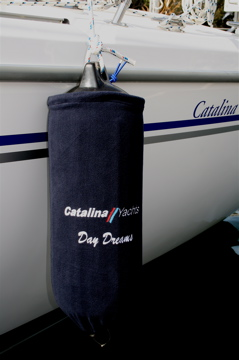 Top Tie with Catalina Logo and Boat Name