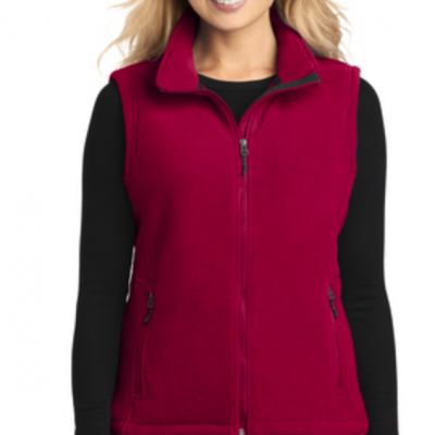 Fleece Vest True Red