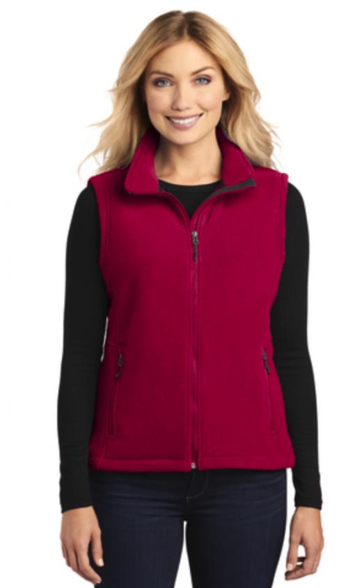 Fleece Vest True Red