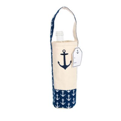 Emroidered Anchor Wine Bag-0