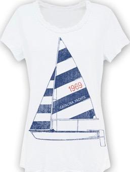 Artisan Ladies' Sailboat Tee - Clearance-0