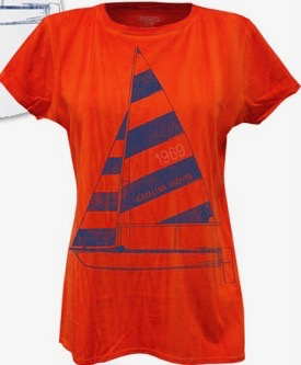 Artisan Ladies' River Wash Sailboat Tee - Clearance-0