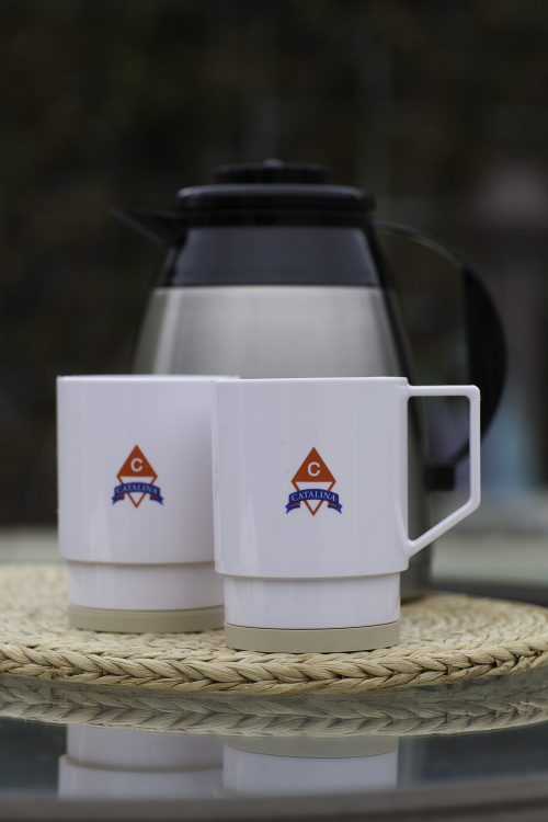 Catalina Yachts Non-skid Mugs (Set of 2) - Clearance-0