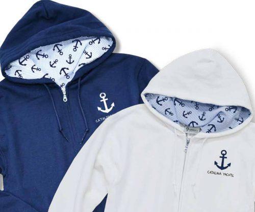 """Ladies' """"Seas the Day"""" Nautical Hoodie-0"""