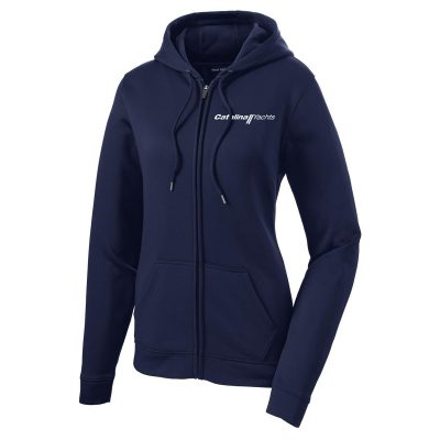 Ladies' Sport-Wick® Fleece Full-Zip Hooded Jacket-0