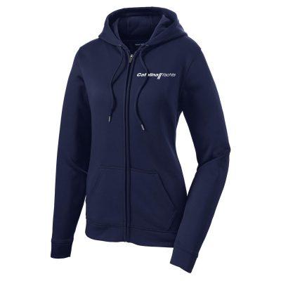 Ladies' Sport-Wick® Fleece Full-Zip Hooded Jacket-0