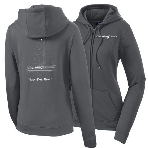 Ladies Sport-Wick® Fleece Full-Zip Hooded Jacket-0