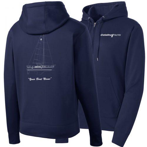 Mens Sport-Wick® Fleece Full-Zip Hooded Jacket-0